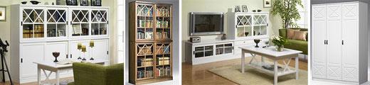 AINOLA — книжные стеллажи, шкафы, витрины для посуды